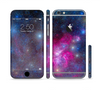 The Pink & Blue Galaxy Sectioned Skin Series for the Apple iPhone 6 Plus