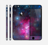 The Pink & Blue Galaxy Skin for the Apple iPhone 6 Plus
