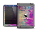 The Pink & Blue Grunge Wood Planks Apple iPad Air LifeProof Fre Case Skin Set