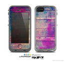 The Pink & Blue Grunge Wood Planks Skin for the Apple iPhone 5c LifeProof Case