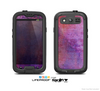 The Pink & Blue Grungy Surface Texture Skin For The Samsung Galaxy S3 LifeProof Case