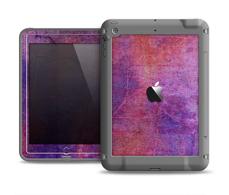 The Pink & Blue Grungy Surface Texture Apple iPad Air LifeProof Fre Case Skin Set