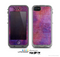 The Pink & Blue Grungy Surface Texture Skin for the Apple iPhone 5c LifeProof Case