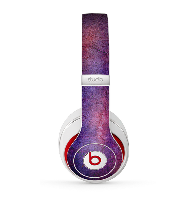 The Pink & Blue Grungy Surface Texture Skin for the Beats by Dre Studio (2013+ Version) Headphones