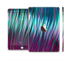The Pink & Blue Vector Swirly HD Strands Full Body Skin Set for the Apple iPad Mini 3