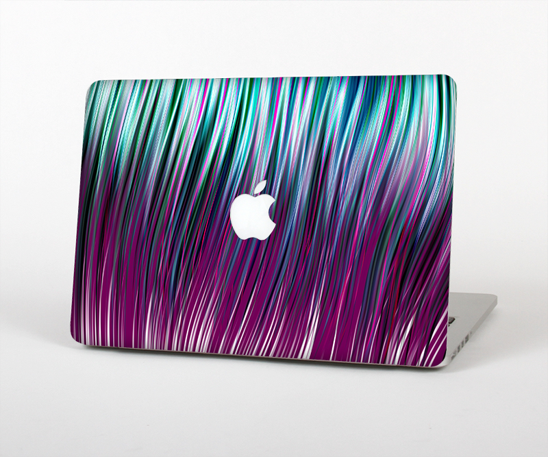 "The Pink & Blue Vector Swirly HD Strands Skin Set for the Apple MacBook Pro 15"" with Retina Display"