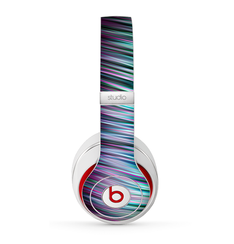 The Pink & Blue Vector Swirly HD Strands Skin for the Beats by Dre Studio (2013+ Version) Headphones