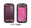 The Pink Brick Wall Skin For The Samsung Galaxy S3 LifeProof Case