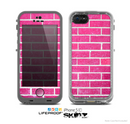 The Pink Brick Wall Skin for the Apple iPhone 5c LifeProof Case