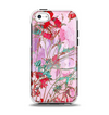 The Pink Bright Watercolor Floral Apple iPhone 5c Otterbox Symmetry Case Skin Set