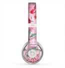 The Pink Bright Watercolor Floral Skin for the Beats by Dre Solo 2 Headphones