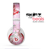 The Pink Bright Watercolor Floral Skin for the Beats by Dre Studio Wireless Headphones