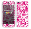 The Pink Collage Breast Cancer Awareness Skin for the Apple iPhone 5c