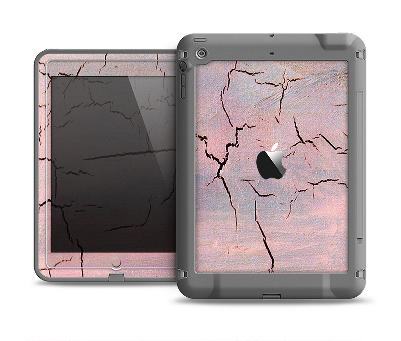 The Pink Cracked Surface Texture Apple iPad Air LifeProof Fre Case Skin Set