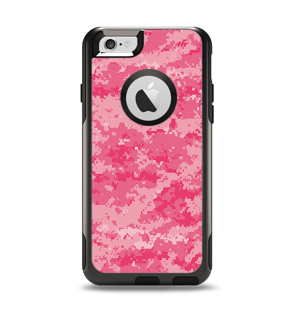 The Pink Digital Camouflage Apple iPhone 6 Otterbox Commuter Case Skin Set