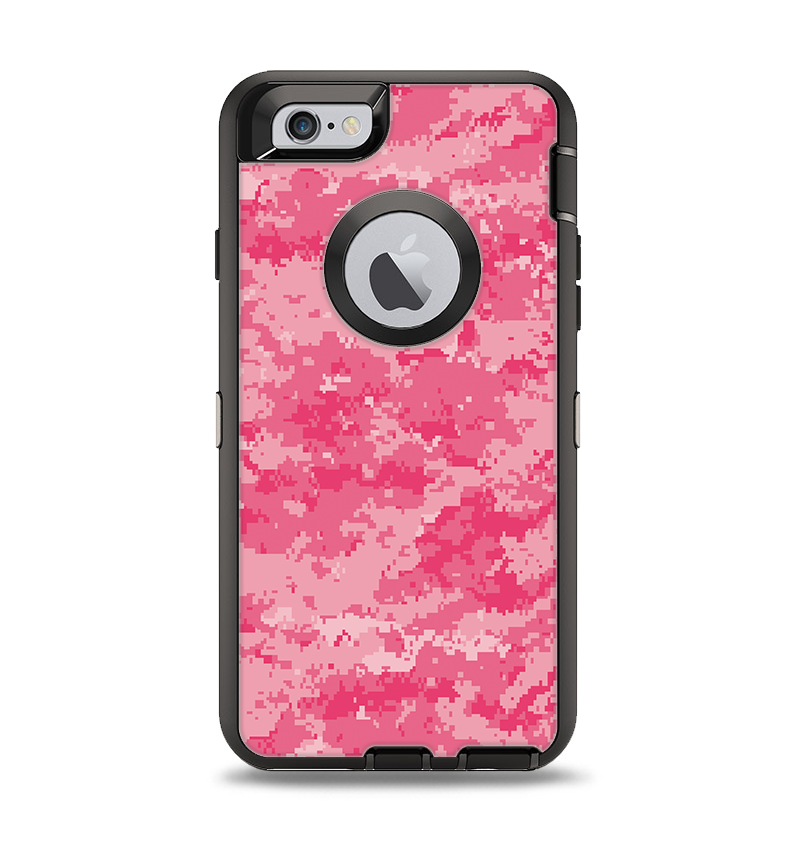 online store 5219e c9206 The Pink Digital Camouflage Apple iPhone 6 Otterbox Defender Case Skin Set