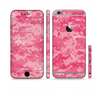 The Pink Digital Camouflage Sectioned Skin Series for the Apple iPhone 6