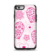The Pink Floral Designed Hearts Apple iPhone 6 Otterbox Symmetry Case Skin Set