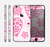 The Pink Floral Designed Hearts Skin for the Apple iPhone 6