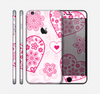 The Pink Floral Designed Hearts Skin for the Apple iPhone 6 Plus