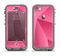 The Pink Geometric Pattern Apple iPhone 5c LifeProof Nuud Case Skin Set