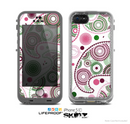 The Pink & Green Floral Paisley Skin for the Apple iPhone 5c LifeProof Case