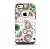 The Pink & Green Floral Paisley Skin for the iPhone 5c OtterBox Commuter Case