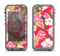 The Pink & Green Hawaiian Floral Pattern V4 Apple iPhone 5c LifeProof Nuud Case Skin Set