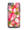 The Pink & Green Hawaiian Floral Pattern V4 Apple iPhone 6 Otterbox Symmetry Case Skin Set