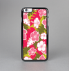 The Pink & Green Hawaiian Floral Pattern V4 Skin-Sert Case for the Apple iPhone 6 Plus