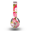 The Pink & Green Hawaiian Floral Pattern V4 Skin for the Beats by Dre Original Solo-Solo HD Headphones