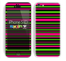 The Pink & Green Striped Skin for the Apple iPhone 5c