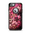 The Pink Grungy Floral Abstract Apple iPhone 6 Otterbox Defender Case Skin Set