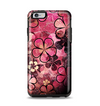 The Pink Grungy Floral Abstract Apple iPhone 6 Plus Otterbox Symmetry Case Skin Set