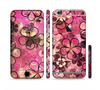 The Pink Grungy Floral Abstract Sectioned Skin Series for the Apple iPhone 6
