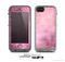 The Pink Grungy Surface Texture Skin for the Apple iPhone 5c LifeProof Case