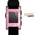 The Pink Grungy Surface Texture Skin for the Pebble SmartWatch