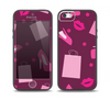 The Pink High Heel Shopping Pattern Skin Set for the iPhone 5-5s Skech Glow Case