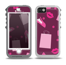 The Pink High Heel Shopping Pattern Skin for the iPhone 5-5s OtterBox Preserver WaterProof Case
