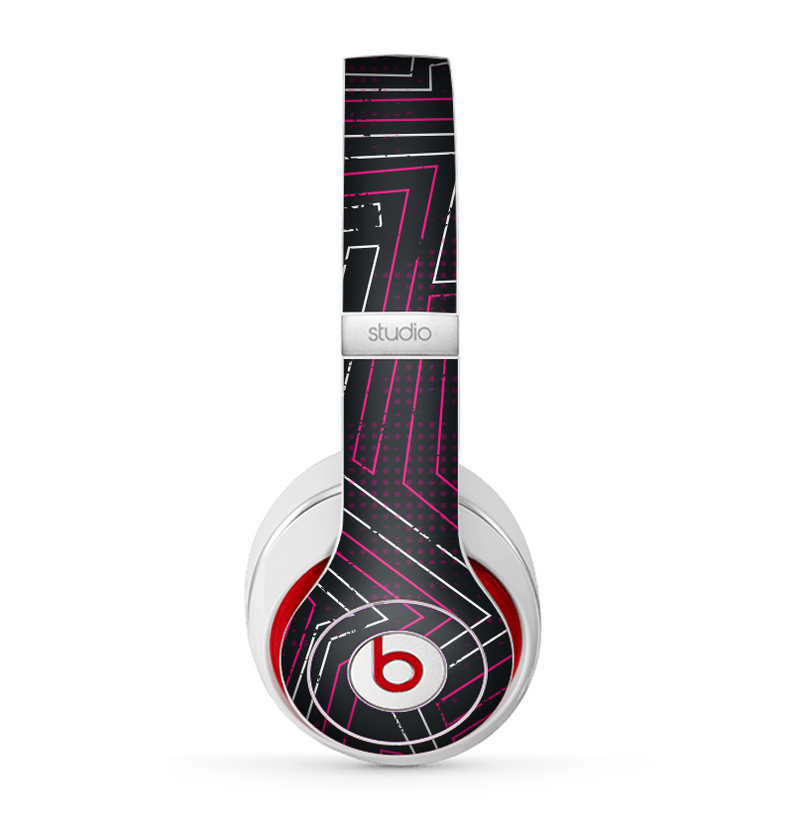 The Pink & Light Blue Abstract Maze Pattern Skin for the Beats by Dre Studio (2013+ Version) Headphones