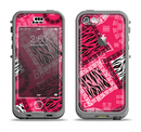 The Pink Patched Animal Print Apple iPhone 5c LifeProof Nuud Case Skin Set