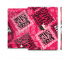 The Pink Patched Animal Print Full Body Skin Set for the Apple iPad Mini 3
