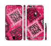 The Pink Patched Animal Print Sectioned Skin Series for the Apple iPhone 6 Plus
