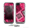 The Pink Patched Animal Print Skin for the Apple iPhone 5c LifeProof Case