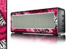 The Pink Patched Animal Print Skin for the Braven 570 Wireless Bluetooth Speaker