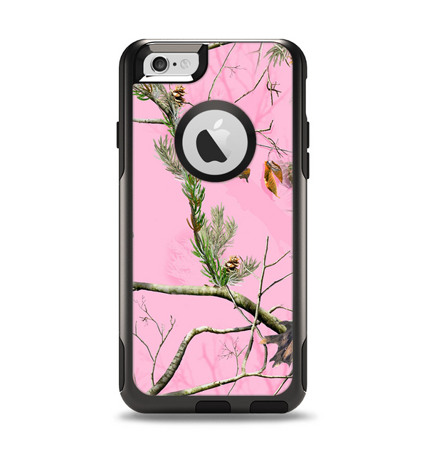 The Pink Real Camouflage Apple iPhone 6 Otterbox Commuter Case Skin Set