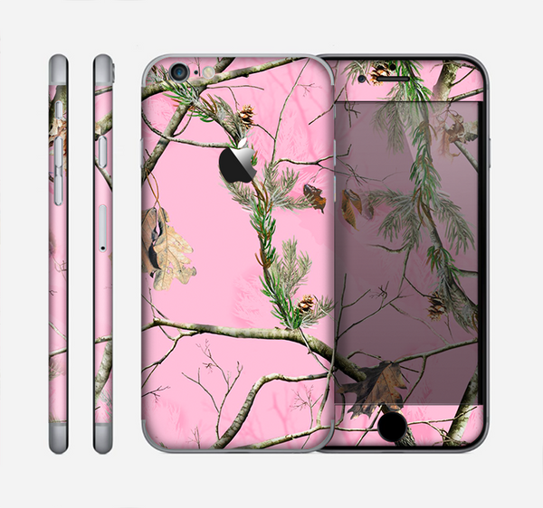 The Pink Real Camouflage Skin for the Apple iPhone 6