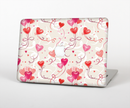 "The Pink, Red and Tan Heart Balloon Pattern Skin Set for the Apple MacBook Pro 15"" with Retina Display"