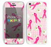 The Pink Ribbon Collage Breast Cancer Awareness Skin for the Apple iPhone 5c