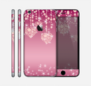 The Pink Sparkly Chandelier Hearts Skin for the Apple iPhone 6 Plus